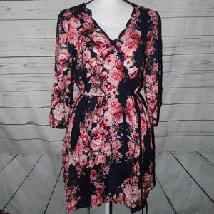 NWT Band of Gypsies high low dress Medium roses